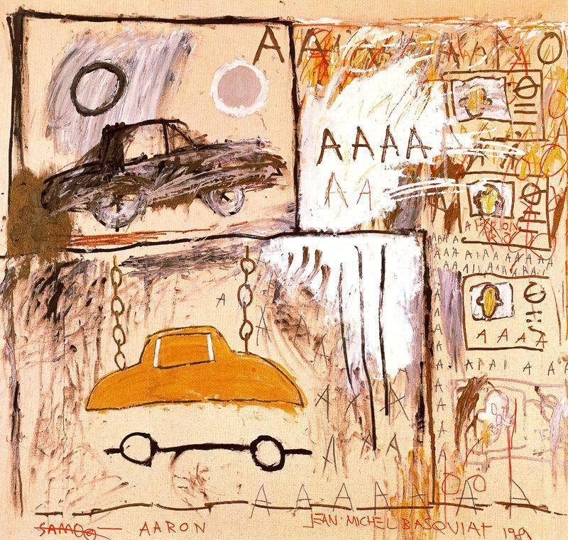 image cadillac moon Jean-Michel Basquiat