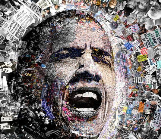 Credit : I Am Not A Perfect Man Obama Lithograph By Artist O