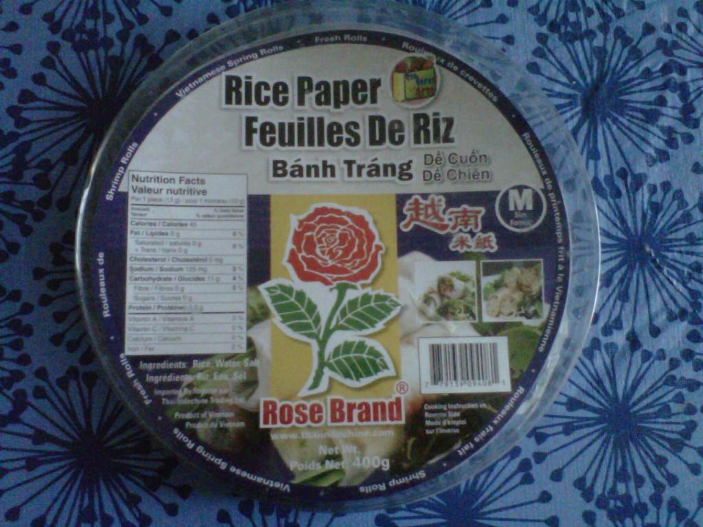 feuille de riz Recette de rouleaux aux crevettes