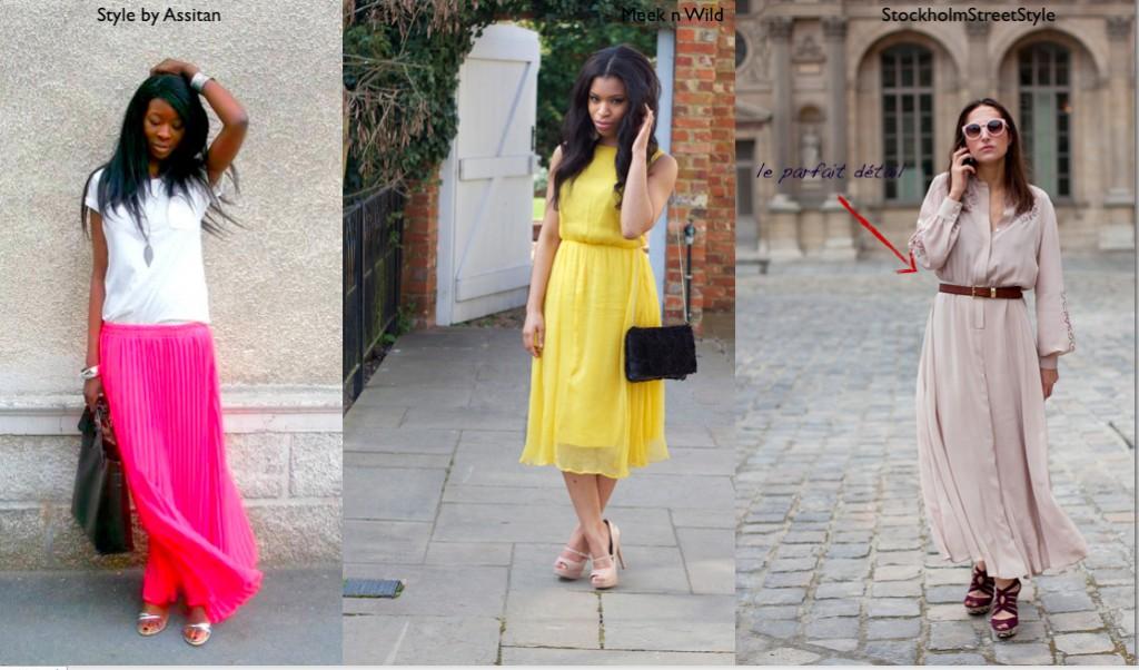 Comment porter la tendance robe longue d'été