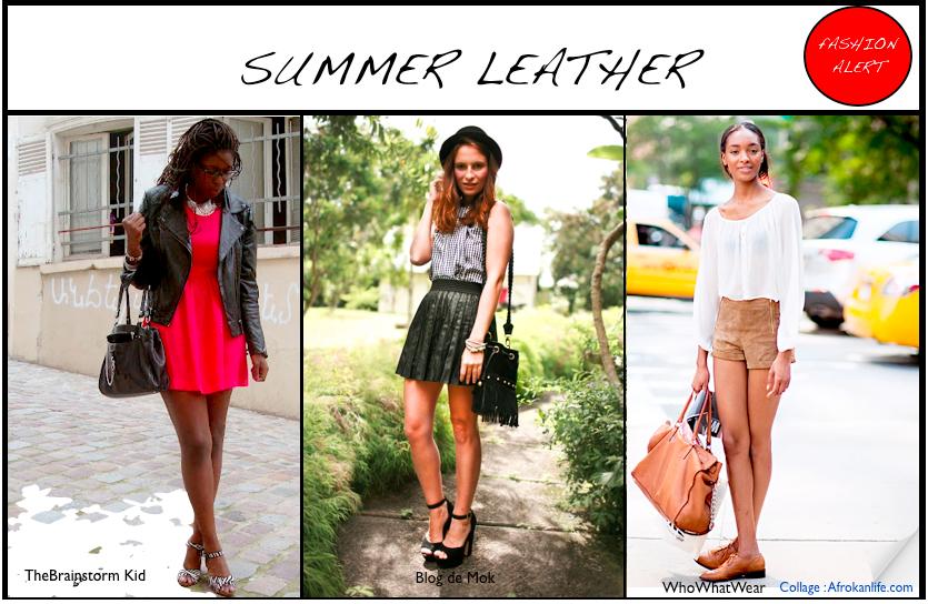 Comment porter la tendance cuir en été
