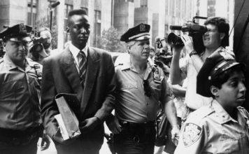 image Accused rapist Yusef Salaam is escorted by police.