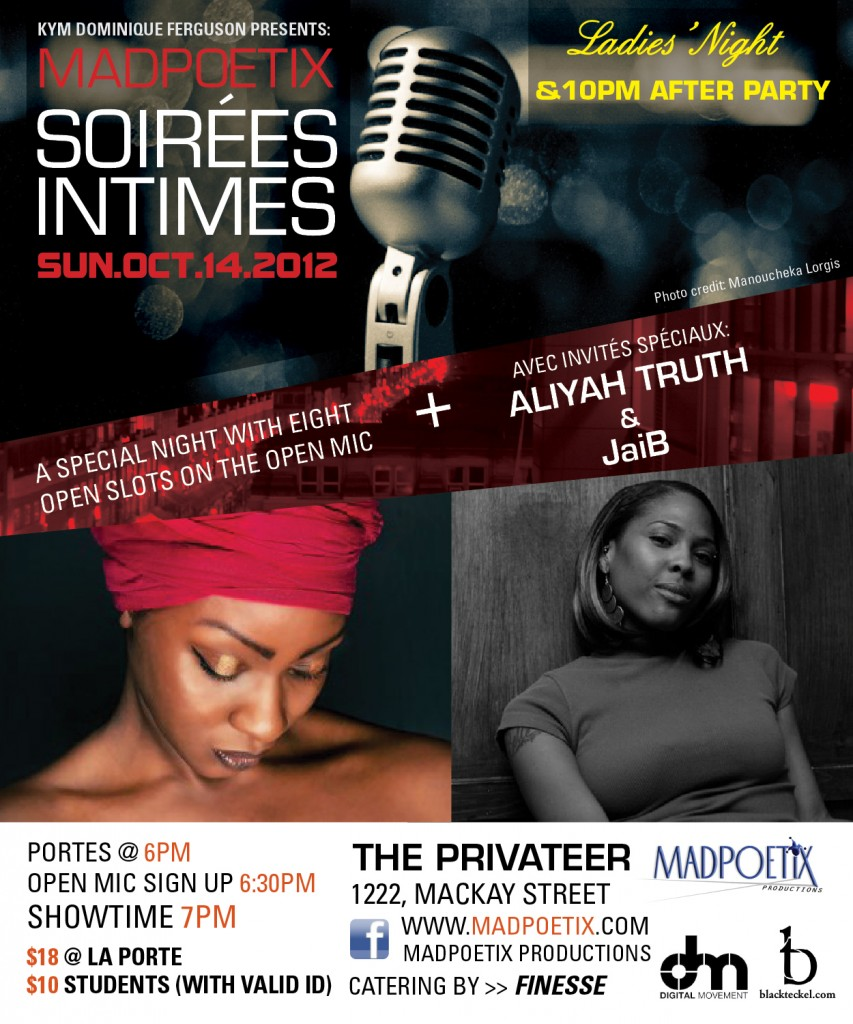 soiree intimes mad poetix