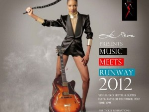 music meets runway