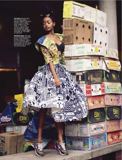 Sharleen Dziire – Elle South Africa January 2013