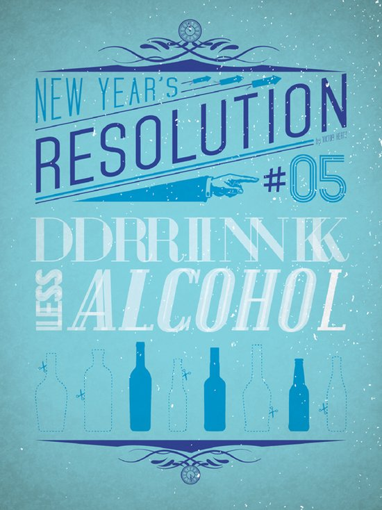Resolution 2013 : Drink Less Alcohol