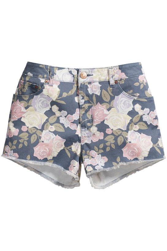Le short à fleur