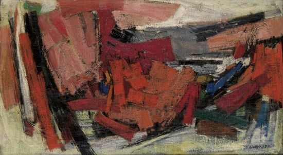 Red Landscape d'Hale Woodruff