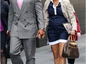 Nicole Ari Parker and Boris Kodjoe spotted hand-in-hand while walking around with a Obama family picture in hand, New York City
