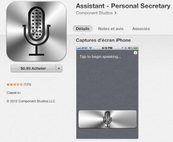 3. App mobile de recherche basée sur la voix