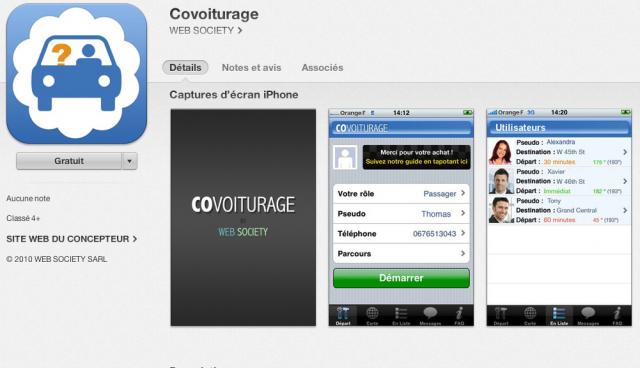 6. App mobile pour faire du covoiturage