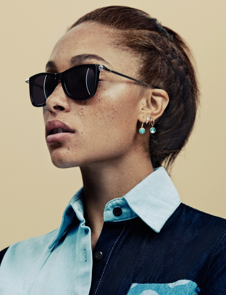 adwoa aboah house of holland summer 2013 eyewear contact2