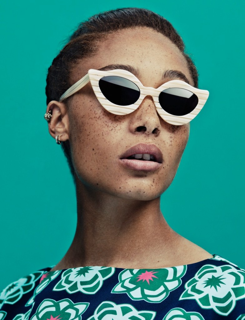 adwoa aboah house of holland summer 2013 eyewear contact4
