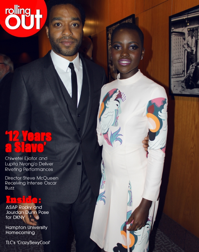 Chiwetel Ejiofor and Lupita Nyong'o Rolling out magazine Images by Mike Melendy