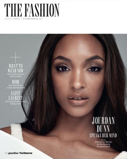 Jourdan Dunn pour The Fashion , Autumn Winter 2013. Photograped by Mary mccartney