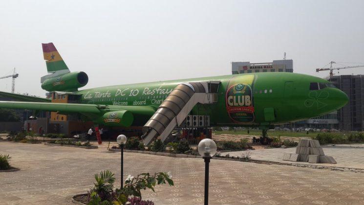 ghana plane restaurant
