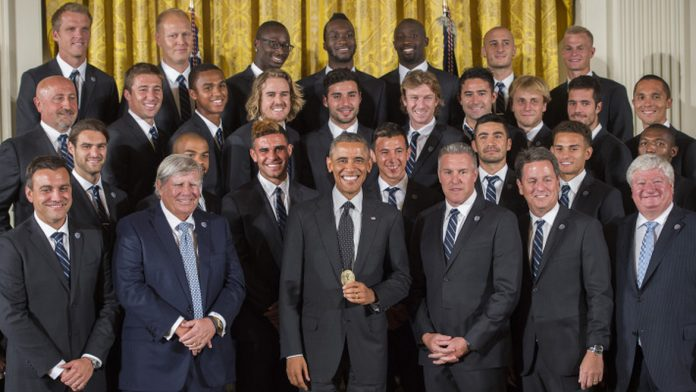 Barack Obama champion MLS 2013 Aurélien Collin