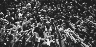 LeBron James Breaks Down Huddle with All of Cleveland in Chilling Nike Ad
