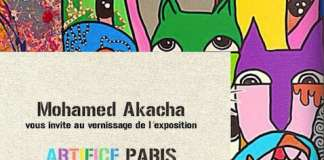 Vernissage de l'exposition Artifice Paris de Mohamed Akacha