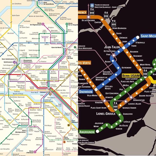 Transit comment se déplacer en transports à Montréal stm Paris ratp