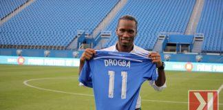 Les partisans font la rencontre de Didier Drogba