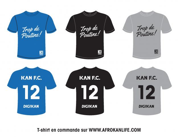 Kan Store - T-Shirts Trop De Poutine Soccer Montreal
