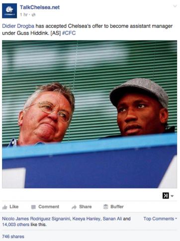 Didier Drogba prend sa retraite pour rejoindre le staff de Chelsea