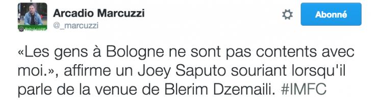 Tweet Arcadio Blerim Dzemaili MVP