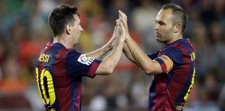fc barcelone Messi et Iniesta