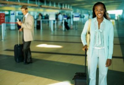 image black women travel flight