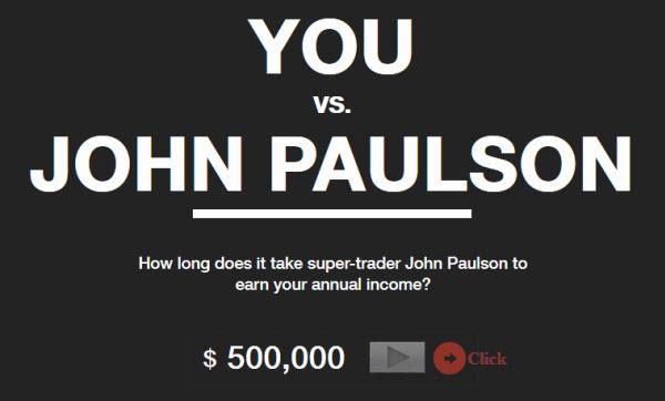 Combien de temps il faut à John Paulson pour gagner votre salaire annuel ?