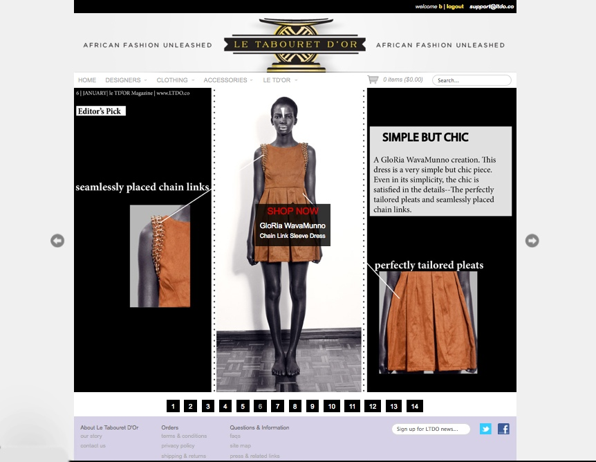 Le Tabouret D'Or, a luxury African fashion e-boutique