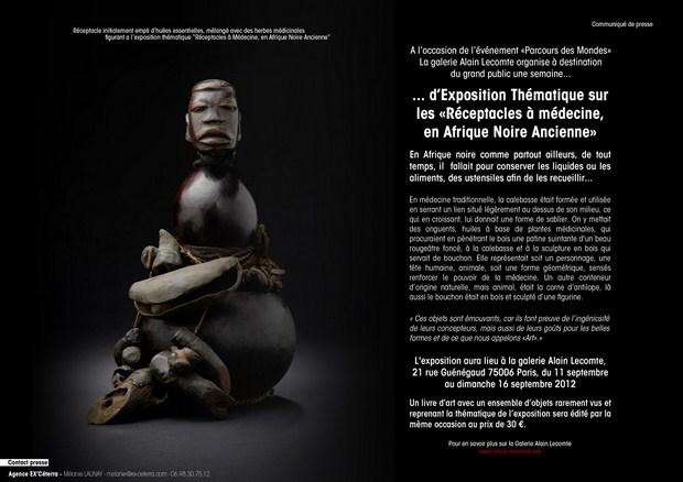 Récéptacles à Médécine, en Afrique Noire Ancienne