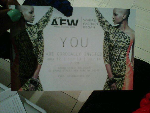 Africa Fashion Week, Adiree's African Luxury Fashion Pannel