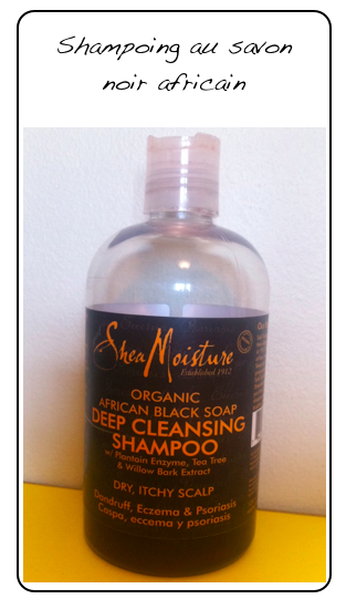 Shea Moisture - Shampoing au savon noir africain