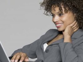 image Business-Woman-Computer-Office-Black-Enterprise Work