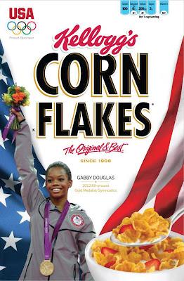 Gabby Douglas déjà sur les boites de Corn Flakes : Jackpot !