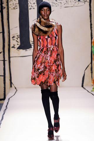 Défilé Tracy Reese Automne 2009 mannequin Nana Keita