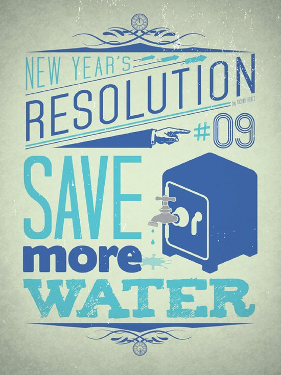 Resolution 2013 : Save more water