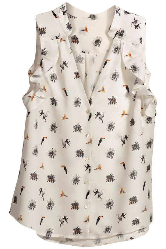 La chemise sans manche fleurie La collection éco-responsable Conscious