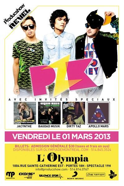 Concours PZK 2 billets à gagner pour le concert à Olympia !