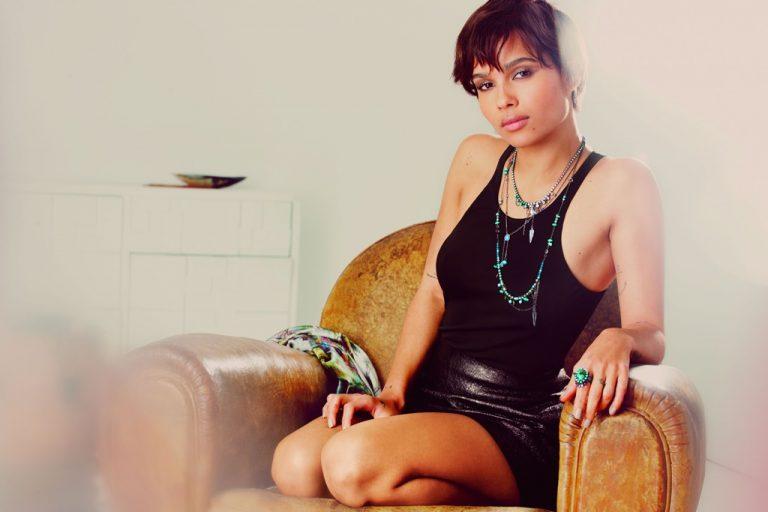 Zoe Kravitz prend la pose pour Swarovski Crystallized