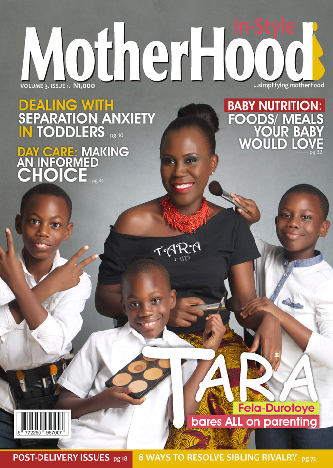 Tara Fela-Durotoye en couverture du magazine In Style