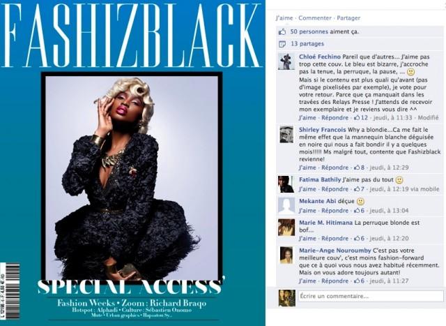 commentaires sur la page Fashizblack