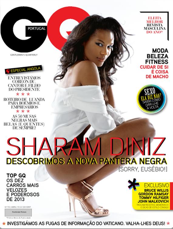 Sharam Diniz en couverture de GQ et Vogue Portugal