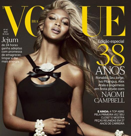 Naomi Campbell en blonde pour Vogue Brésil !