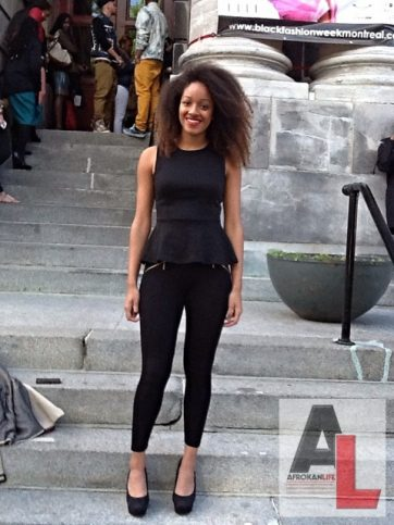 Alika Montreal Street Style Black Fashion Week 8