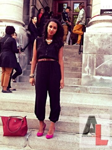 Camille Montreal Street Style Black Fashion Week 2
