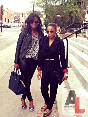 Rose-Tassy and Deborah Montreal Street Style Black Fashion Week 12