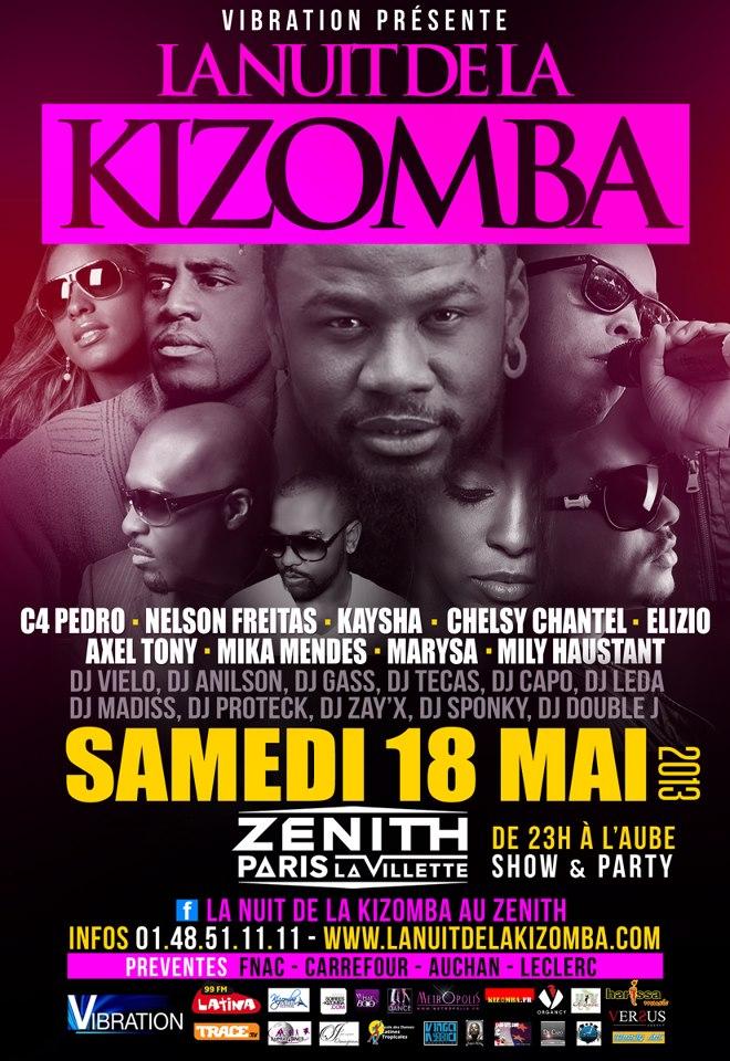 Concours La nuit de la Kizomba au Zénith le 18 mai